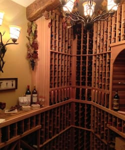 Upscale Luxury Home-Wine Room