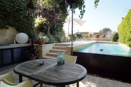 casa en  pueblo algaida con piscina - House