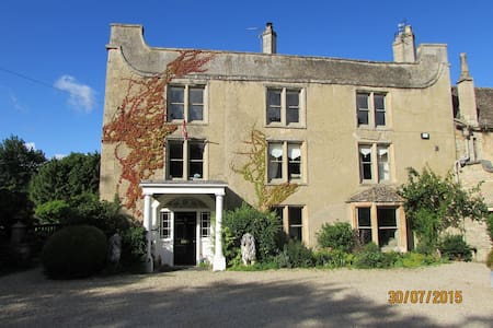 Listed Cotswold Manor 1 double rm. - Broughton Poggs - Wikt i opierunek