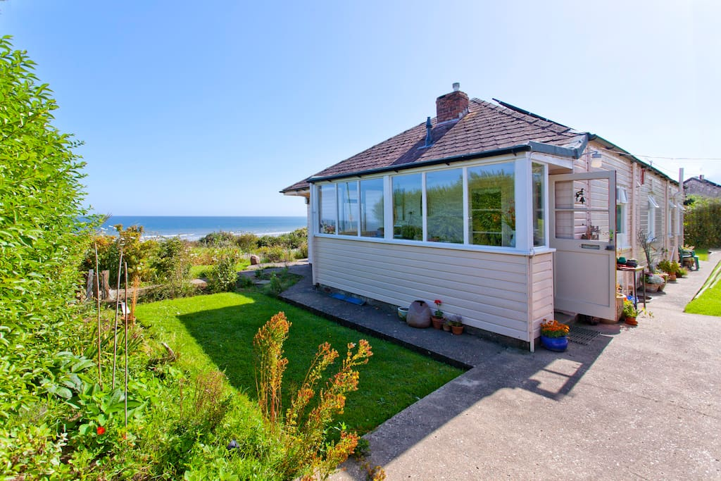 This is the bungalow as you see it  when you first come down the coast road.