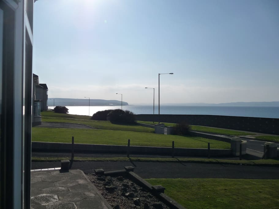 The view towards Mussenden temple, the beach, and Castlerock