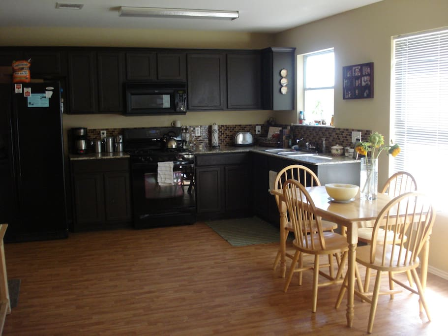Dining leading into open kitchen