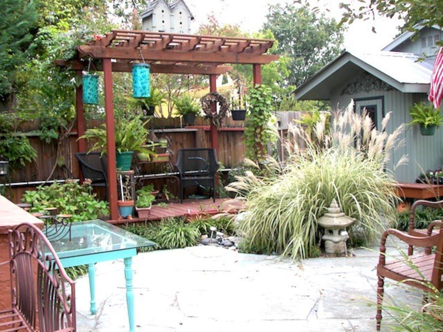 One of the outdoor sitting areas.
