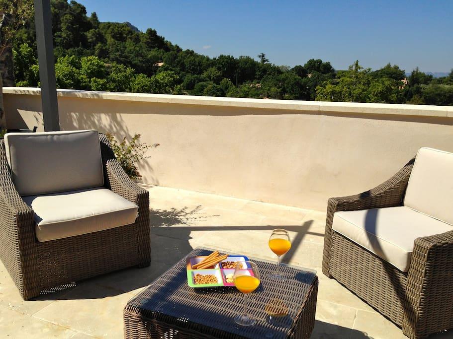 La Maison Bleue Et Sa Terrasse Panoramique Houses For