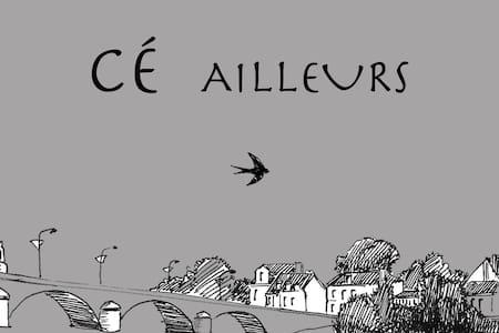 Chambre et salon en bord de Loire - Huis