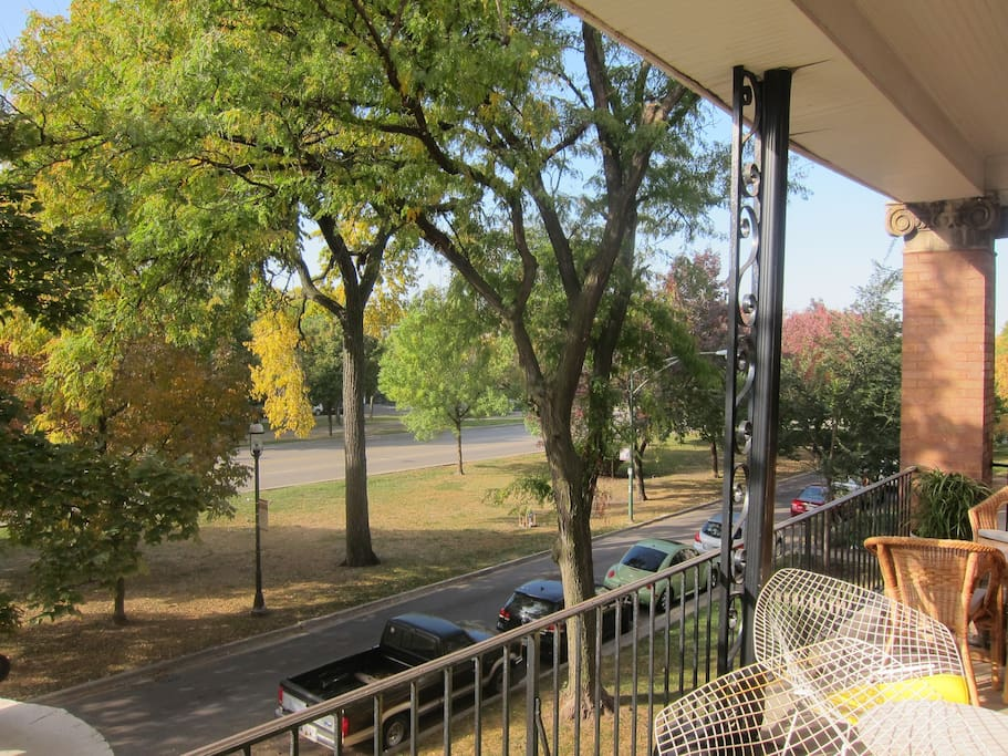 View from our front porch, early fall.