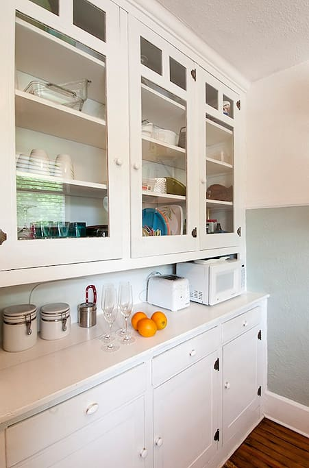 Antique built-in hutch