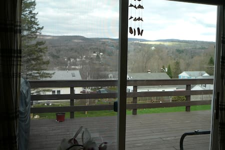 1st floor bedrm. Mtn views at deck.