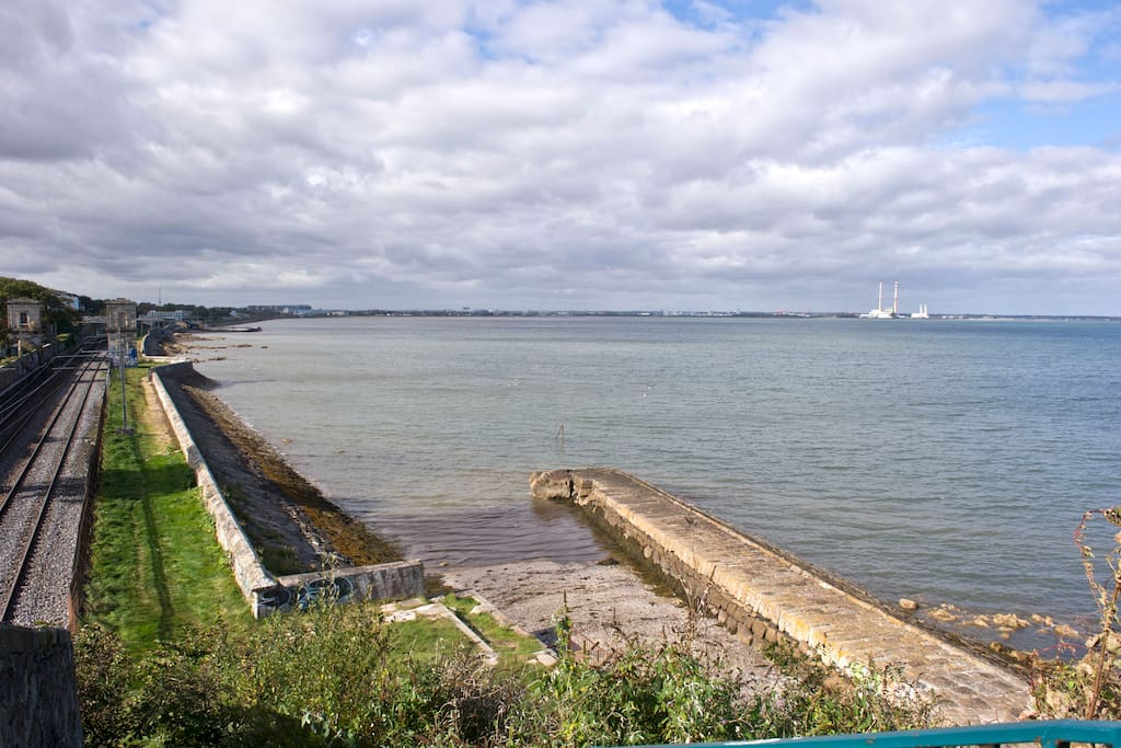 Private jetty with Dun Laoghaire in the background