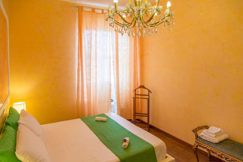 Master bedroom with air conditioning, privare bathroom.