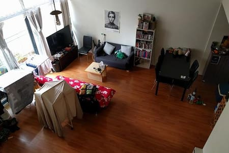 Friendly CBD loft, double bedroom - West Melbourne - Apartemen