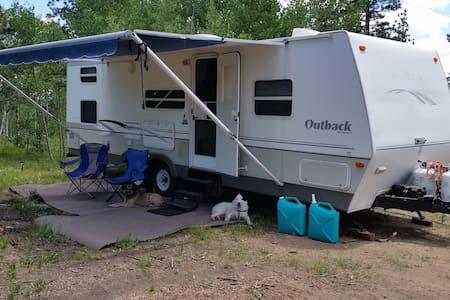 Camper in High Woods - Lakókocsi/lakóautó