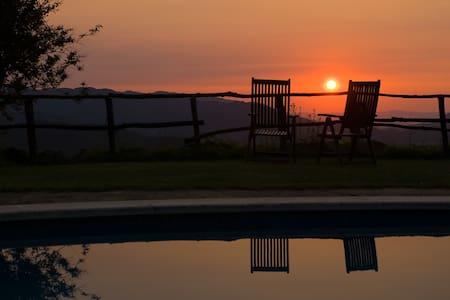 Habitación doble y piscina con vistas - Arbúcies