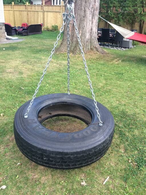Tire swing for kids, or the young at heart;)