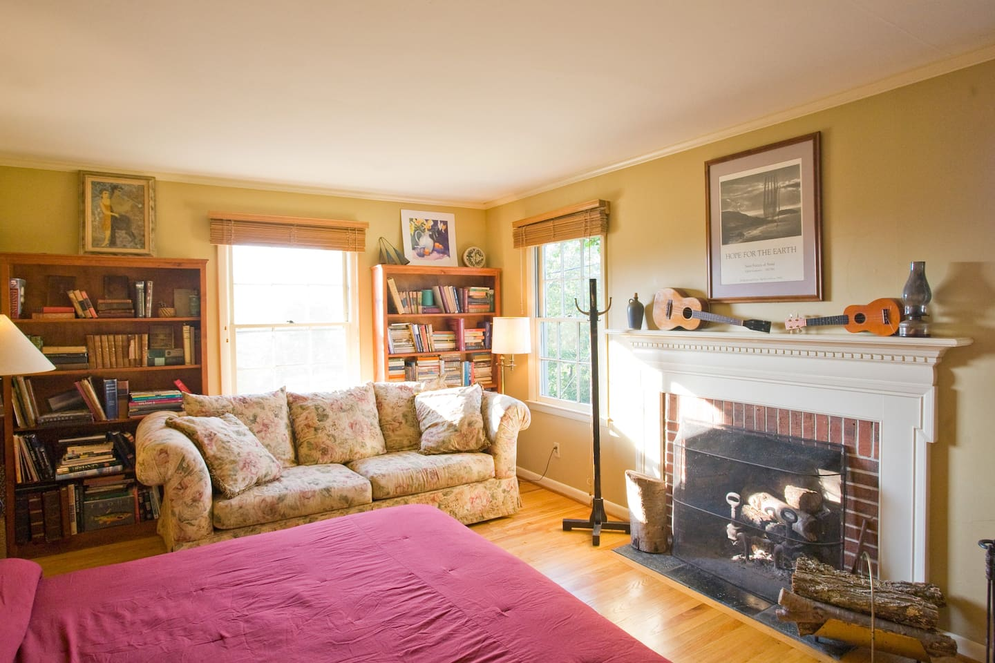 The room has lots of natural light, but for sleep or for a den-like feel . . .