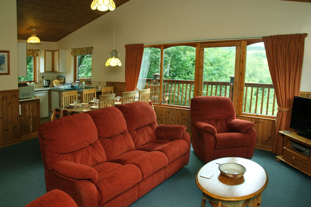 The internal photos are a mix from both lodges. The furniture and decor changes with regular upgrades.