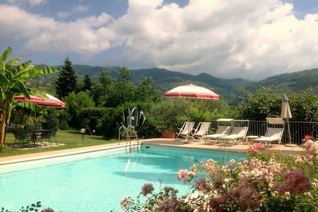 Bedrooms in Tuscany/swimming pool/ac/wifi/park - Buggiano - Villa