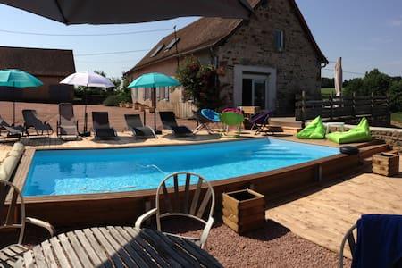 Gîte, pêche, piscine, sauna, étang. - Saint-Bonnet de Vieille vigne  - Talo