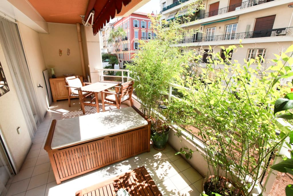 The terrace with ciy view