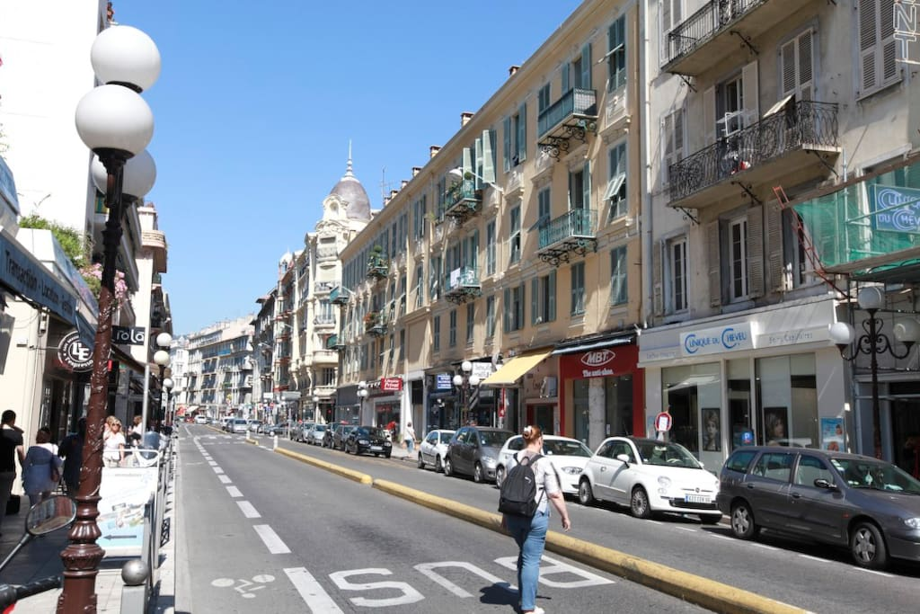 another view of out street: rue Hôtel des Postes
