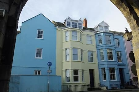 Panoramic views over Tenby town walls and beach - Tenby - Apartmen