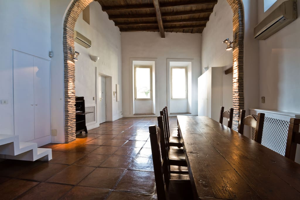 Two ancient pads combined to give 4 bedrooms/4baths and a HUGE space...