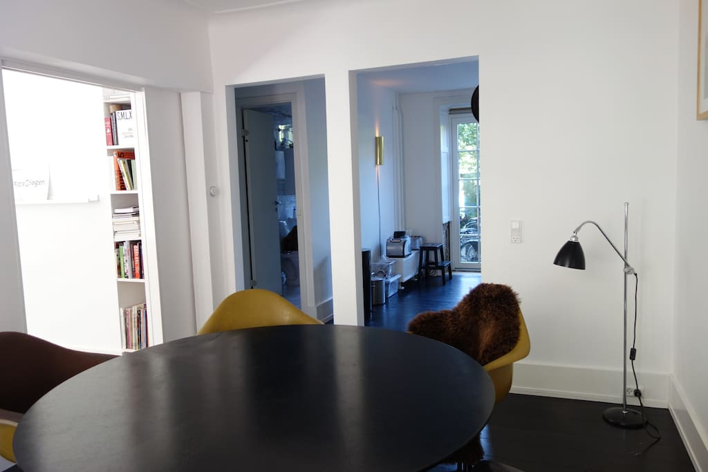 Dining room with view to kitchen