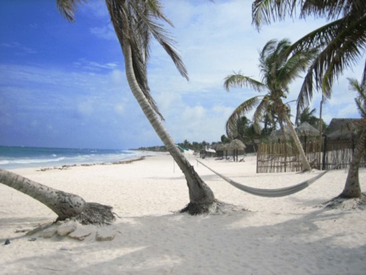 Beach in Playa del Carmen 2.5 blocks from Palma Cocos