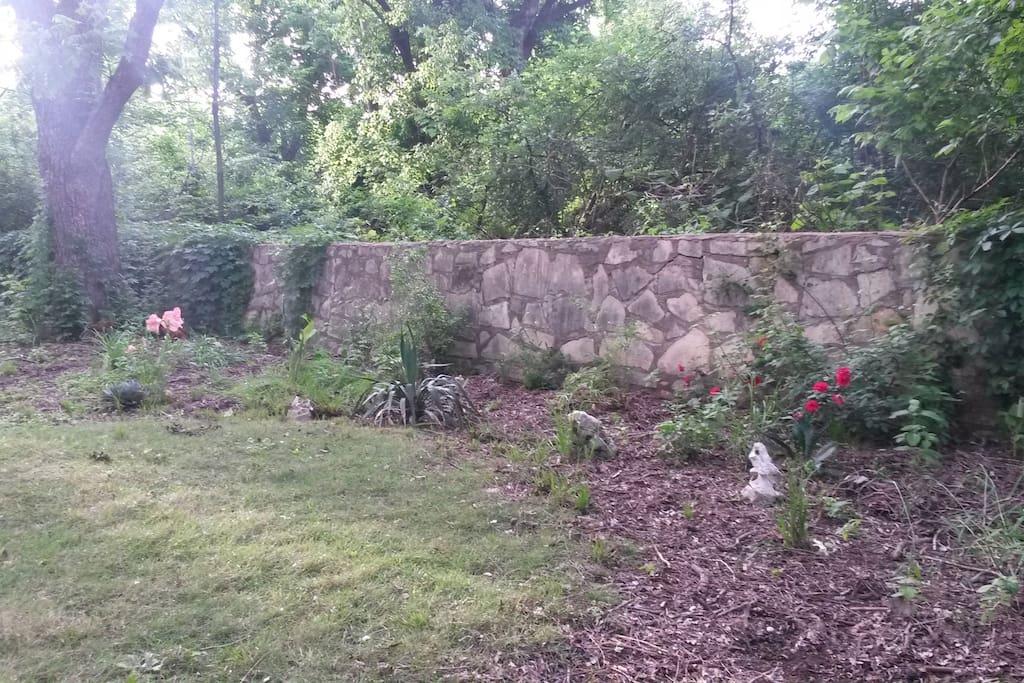 Relax in the serene backyard