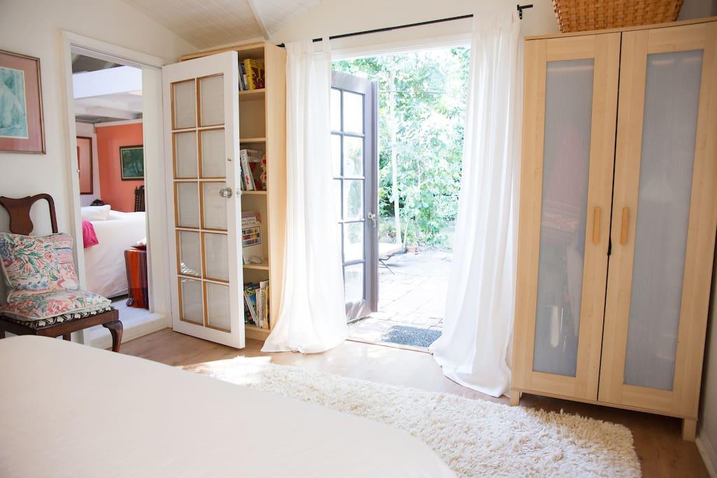 french doors from bedroom to garden