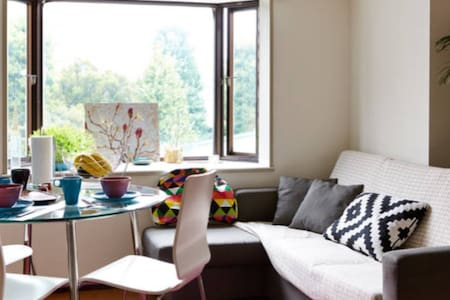 Our specious and sunny apartment is located in a very central area between JR Meguro (10 min walk ) and Nakameguro ( 5 mins by bus) stations, near beautiful river. There are  a lot of places to eat & a supermarket. It's easy to go sightseeing. Free wifi in the house!