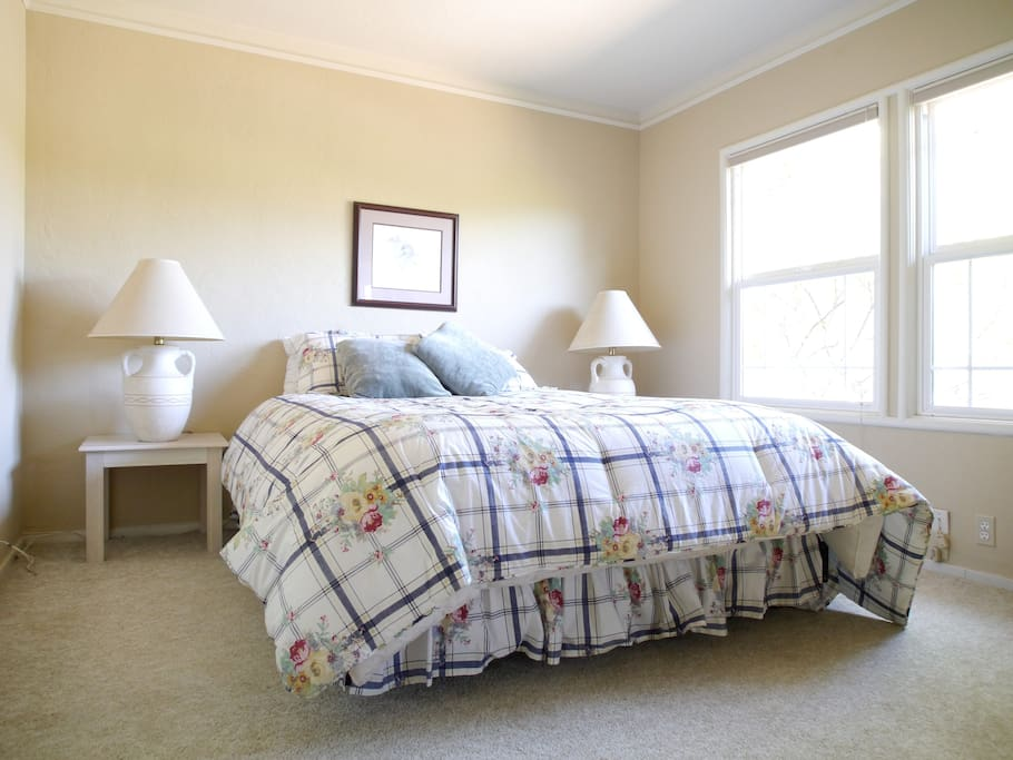 Primary bed/bath suite.  Large and spacious with queen bed.