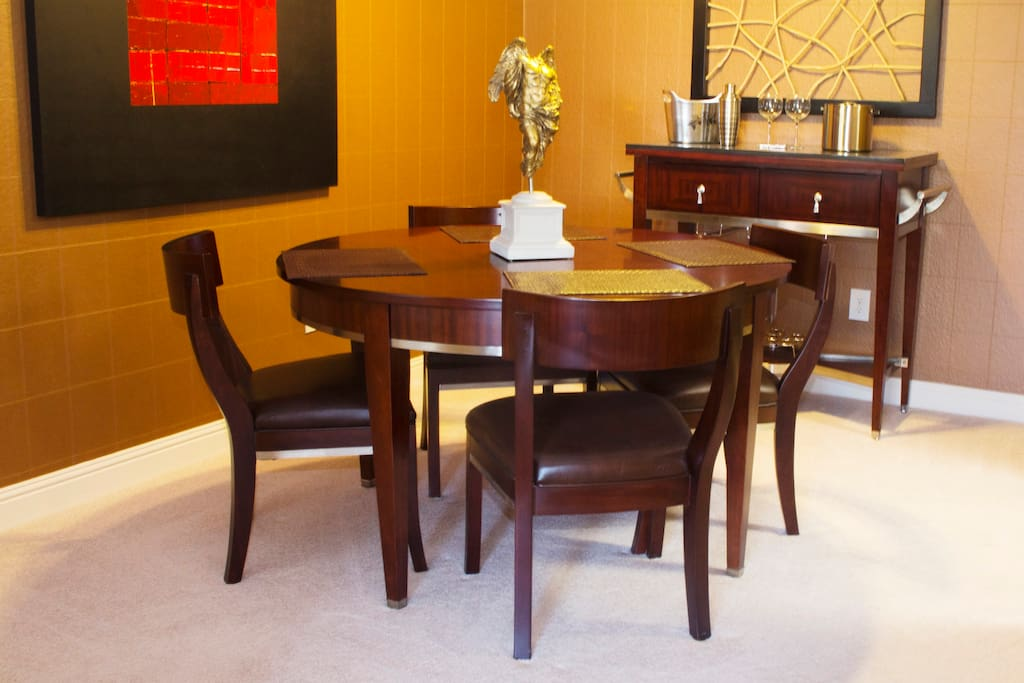 dining area is perfect for eating or working