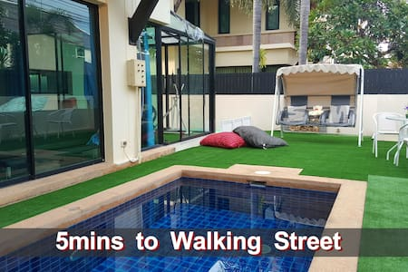 Nowhere Villa~5 mins to Walking Street, Hollywood - Banglamung