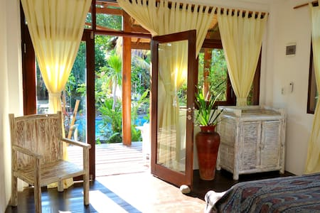 Beautiful Room with AC / Hot Water @ Villa Nangka - Gili Air, Lombok