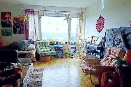 Spacious livingroom with amazing view over sunset! - Wohnung