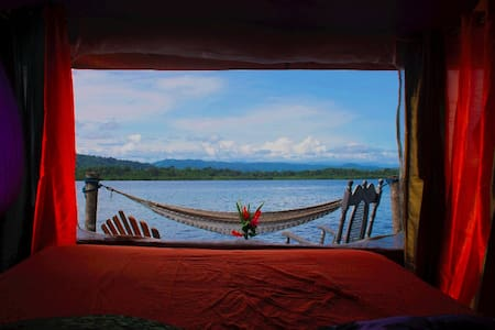 Floating cabana on the lagoon - Cristóbal Island