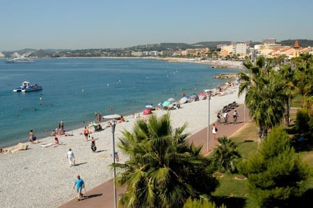 Grand T2 proche Mer et commerces - Cagnes-sur-Mer - Apartment