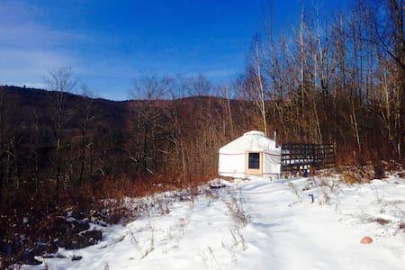 4 season Upper Yurt Stay on a VT Small Farm - Randolph