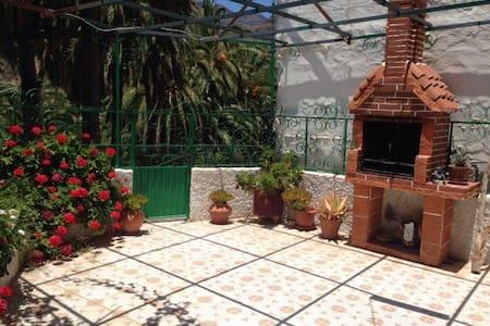 Amplio patio con barbacoa - La Sorrueda - Casa