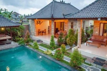 #1 Daily/Long Term 1BR Pool Villa - Ubud - Bed & Breakfast