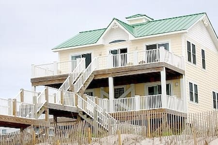 Green Roof - Oceanfront Property - North Topsail Beach - House