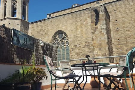 Glorious Loft w Terrace in the Heart of Old Town - Barcelona - Vindsvåning