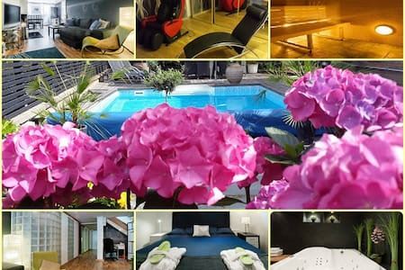 Own floor (150 sq m), sauna/relax room and pool! - House