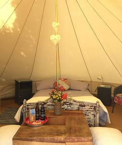 Glamping in Wales - Tent