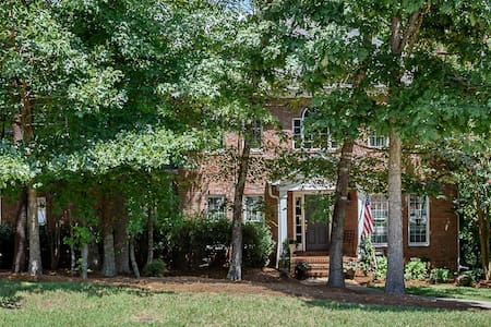 Exceptional Elon Nature Brick Home - Gibsonville