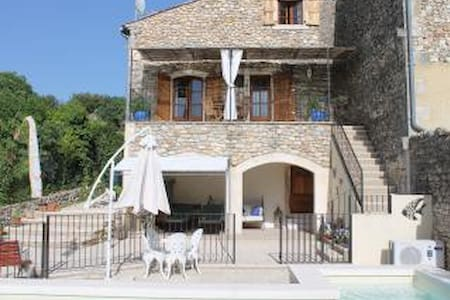 Luxury Cottage with Private Heated Pool - Allègre-les-Fumades - Rumah
