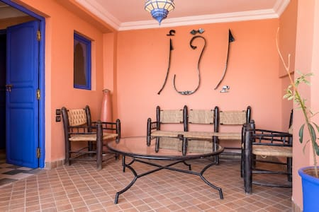 Terrace Room, Great location3 mins to square+Wi Fi - Marrakesh - Guesthouse