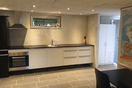 Cozy basement apartment with space - Free Parking - Odense - Apartment