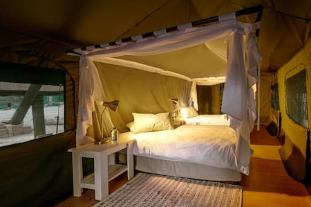 Glamping in a Travellers Delight Tent @ Urbancamp - Windhoek - Tent